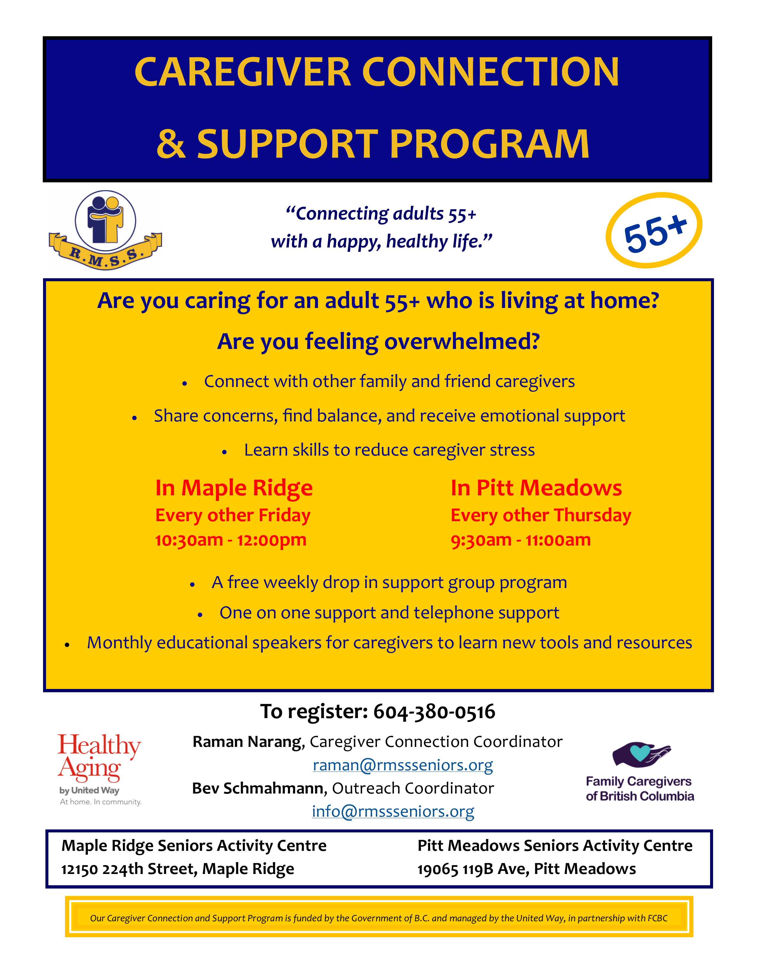 Caregiver Connection Weekly Support Group